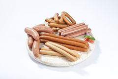 Many type of sausage Stock Photography
