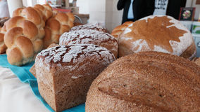 Many types of bread. Many types of healthy bread royalty free stock image