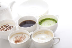Many types of coffee Royalty Free Stock Images