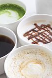 Many types of coffee Royalty Free Stock Photos