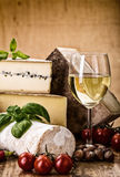 Many types of french cheese Royalty Free Stock Photography