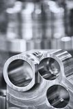 Many types of metal details industrial design background. royalty free stock image