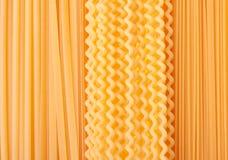 Many types of pasta Royalty Free Stock Image