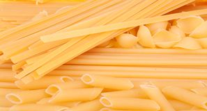 Many types of pasta Stock Image