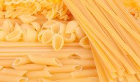 Many types of pasta Royalty Free Stock Photography