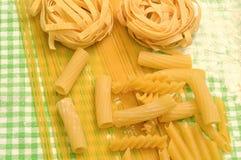 Many types of pasta Stock Photography