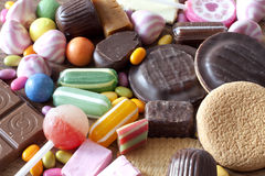 Many types of sweets Royalty Free Stock Images