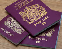 Many Uk Passports Stock Photos