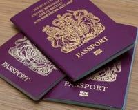 Many Uk Passports. Macro shot Stock Photos