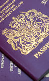 Many Uk Passports Stock Image