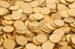 Many ukrainian coins. Ten kopeck, can be used as background Stock Images