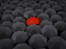 Many umbrellas Stock Photo
