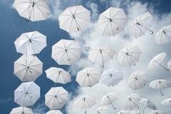 Many umbrellas Stock Image