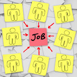 Many Unemployed Candidates Compete for One Job Royalty Free Stock Photography