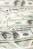 Many US 100 dollars, business background Royalty Free Stock Photo