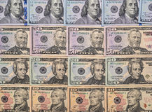 Many us dollars pile Stock Photography