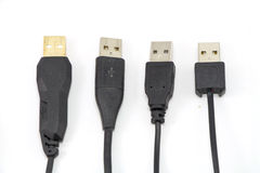 Many USB cable Stock Images