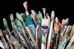 Many used paintbrushes Royalty Free Stock Image
