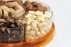 Many varieties of dried fruit Stock Image