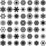 Many vector snowflakes Stock Photo