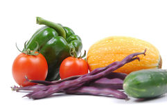 Many vegetables on white. Many vegetables isolated on white Stock Photography