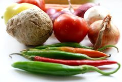 Many vegetables on white background Royalty Free Stock Images
