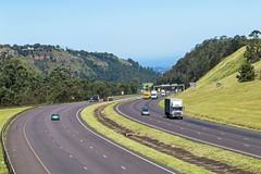 Many Vehicles on N3 Highway Entering and Leaving Pietermaritzbur Royalty Free Stock Images