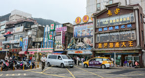 Many vehicles run on street in Taichung Stock Images