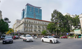Many vehicles on the street in Saigon Stock Photography