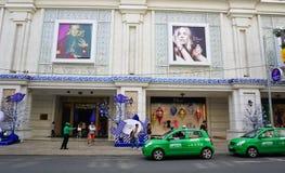 Many vehicles on the street in Saigon Royalty Free Stock Photo