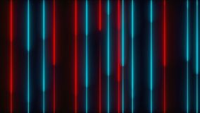 Many vertical neon lighting lines, abstract computer generated backdrop, 3D render Stock Photos