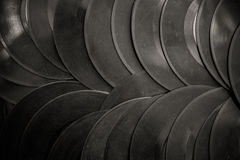 Many vintage 45s vinyl background Royalty Free Stock Photo