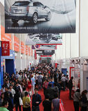 Many Visitors at the Auto China 2010 Royalty Free Stock Photography