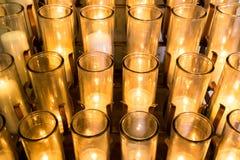 Many Votive Candles Stock Image
