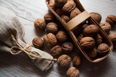 Many walnuts Stock Photo