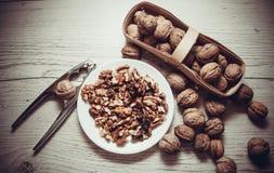 Many walnuts Stock Photography