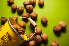 Many walnuts Royalty Free Stock Images