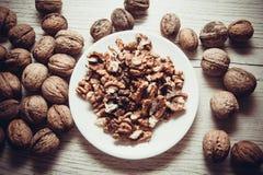 Many walnuts Royalty Free Stock Photo