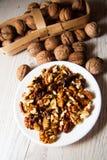 Many walnuts Royalty Free Stock Photos