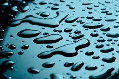 Many water drops Royalty Free Stock Photo