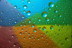 Many water drops Stock Images