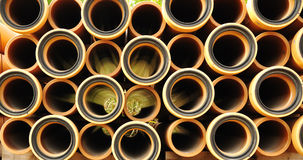 Many water pipes Stock Images