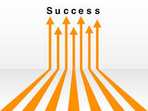Many ways lead to success concept Stock Photo