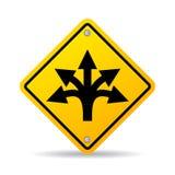 Many ways road vector sign Royalty Free Stock Photo
