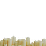 Many white candles Royalty Free Stock Photo