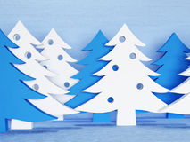 Many white Christmas trees, Stock Image