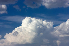 Many white fluffy clouds Stock Photos