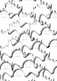 Many white  ghosts Royalty Free Stock Images