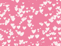 Many white hearts background of Valentine's day. Love texture Royalty Free Stock Photo