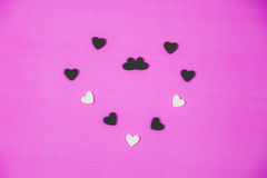 Many white hearts Royalty Free Stock Images